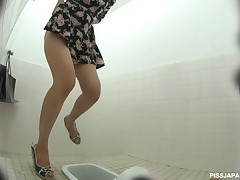 If you find watching hot piss squirt extensively of a tight Japanese pussy, you will like this video very much. Our spy camera is onto a spicy looking Japanese girl who looks like she needs to pee. We follow her to the ladies room and catch her precious pussy on tape as A she squirts extensively every last drop of hot pee.